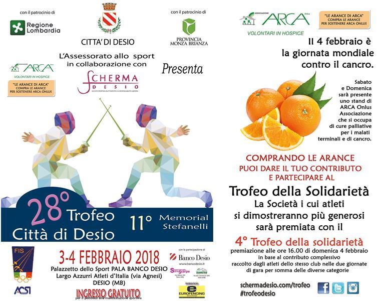 Federazione Italiana Scherma Calendario Gare.Il Trofeo Citta Di Desio 2018 Si Presenta Il 3 4 Febbraio